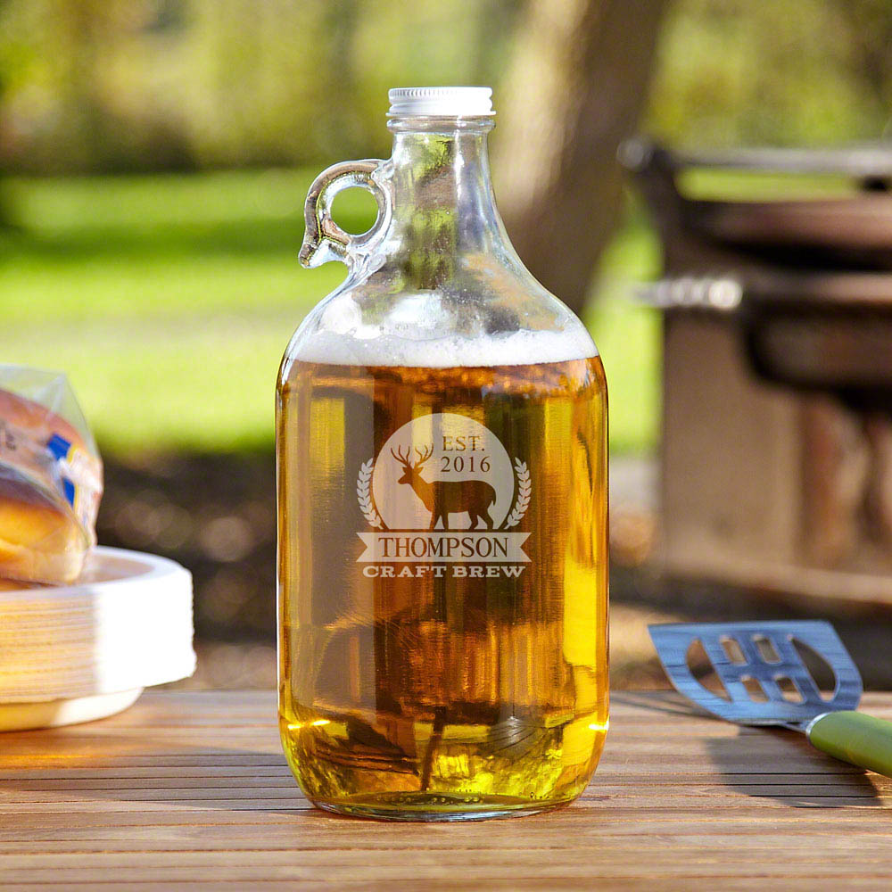 Six Point Brew Personalized Beer Growler