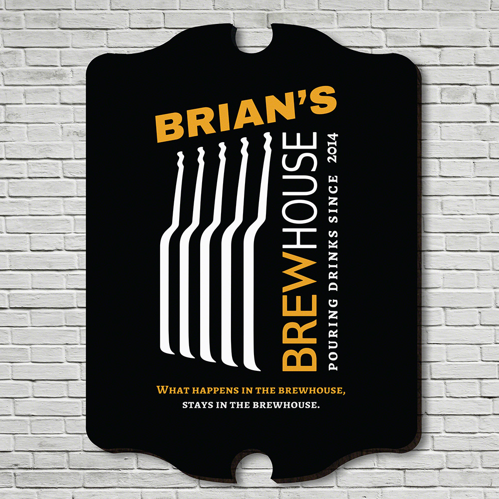 Brewhouse Personalized Bar Sign