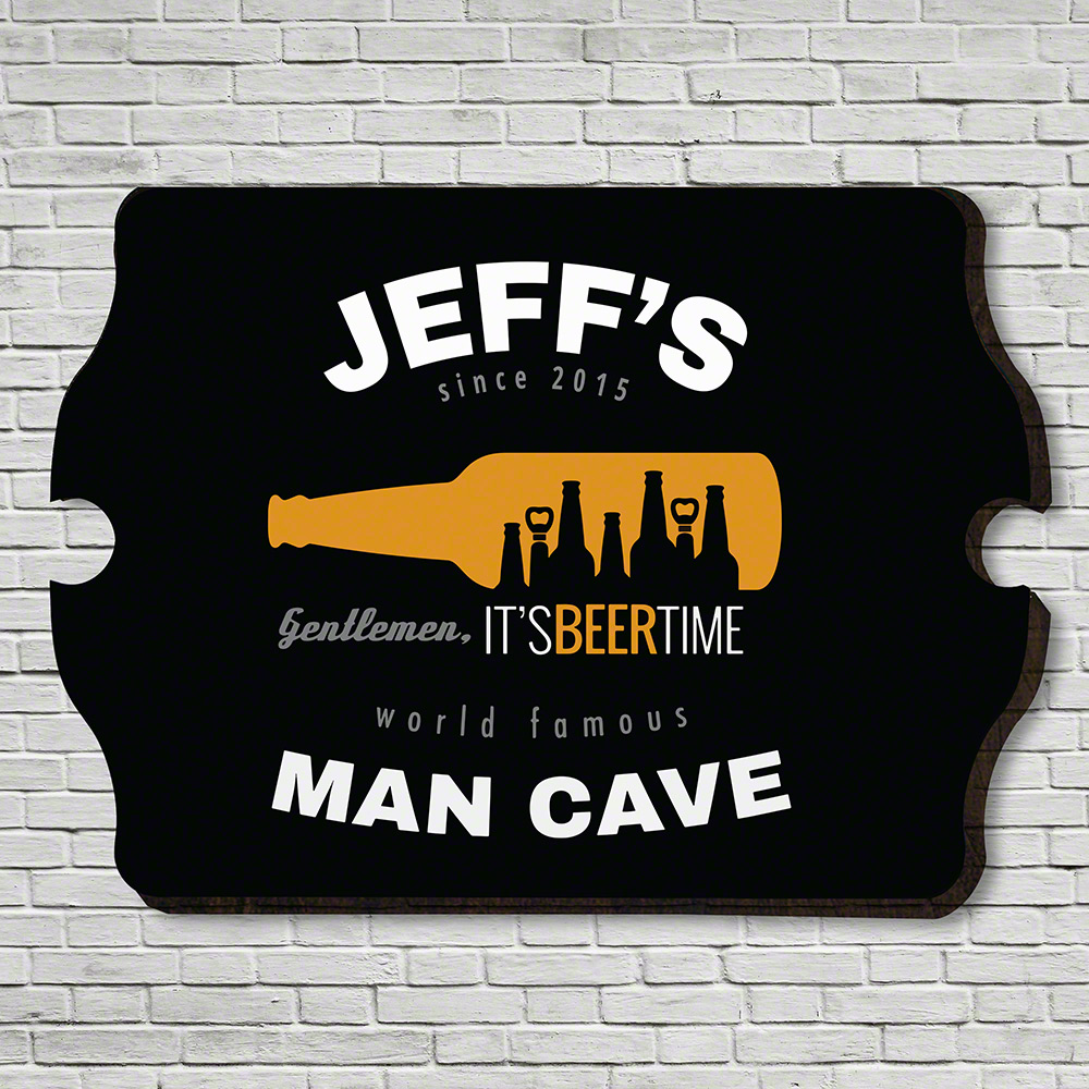 Beer Time Personalized Bar Sign