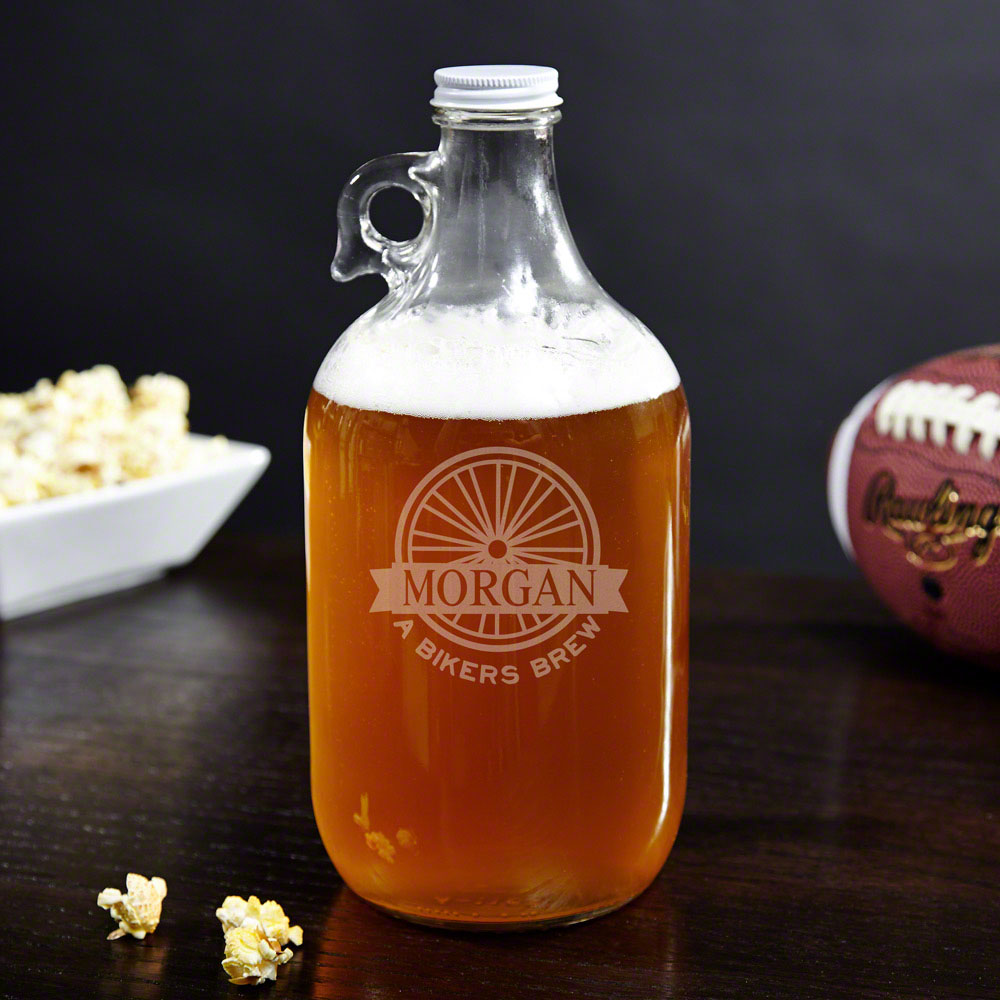 Bikers Brew Personalized Beer Growler