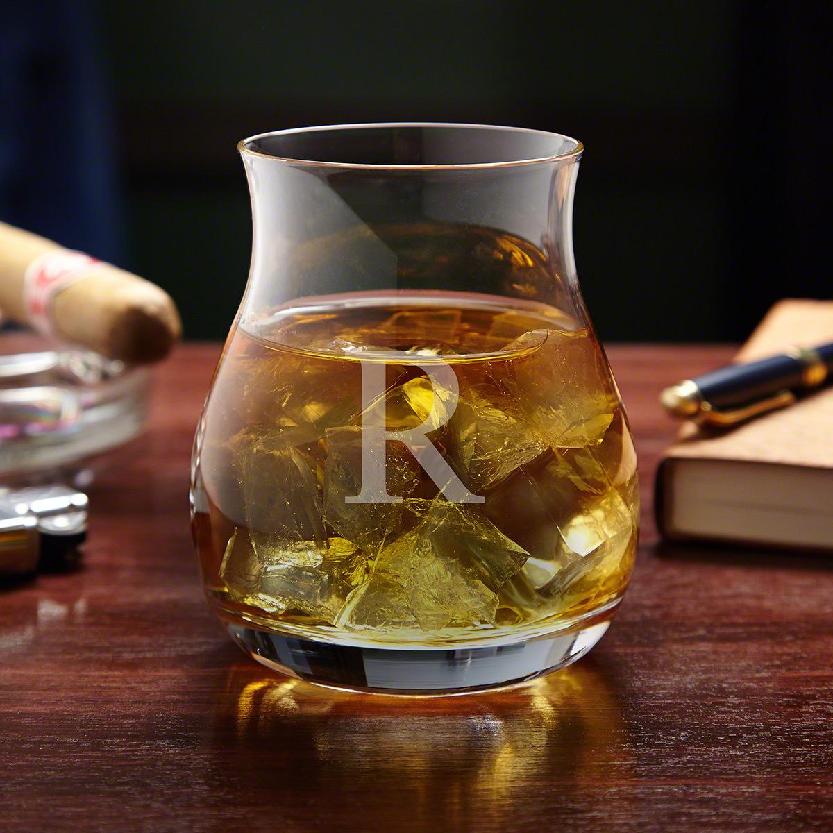 Engraved Wide-Bowl Glencairn Canadian Whiskey Glass