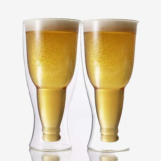 Hopside Down Beer Glasses, Set of 2