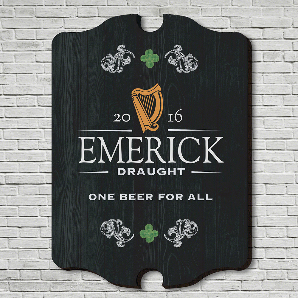 Irish Beer Personalized Bar Sign