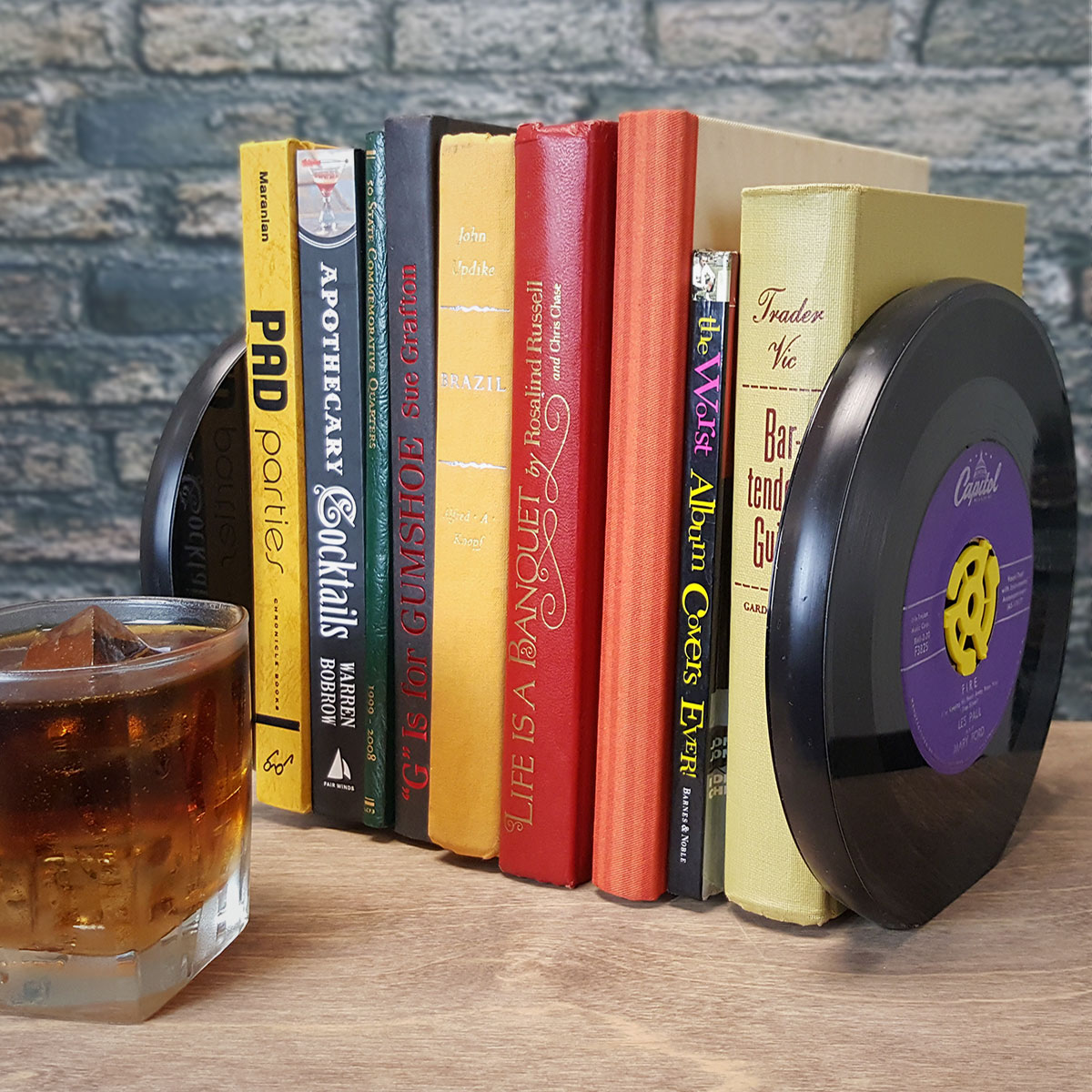 Golden Oldies 45 RPM Record Bookends