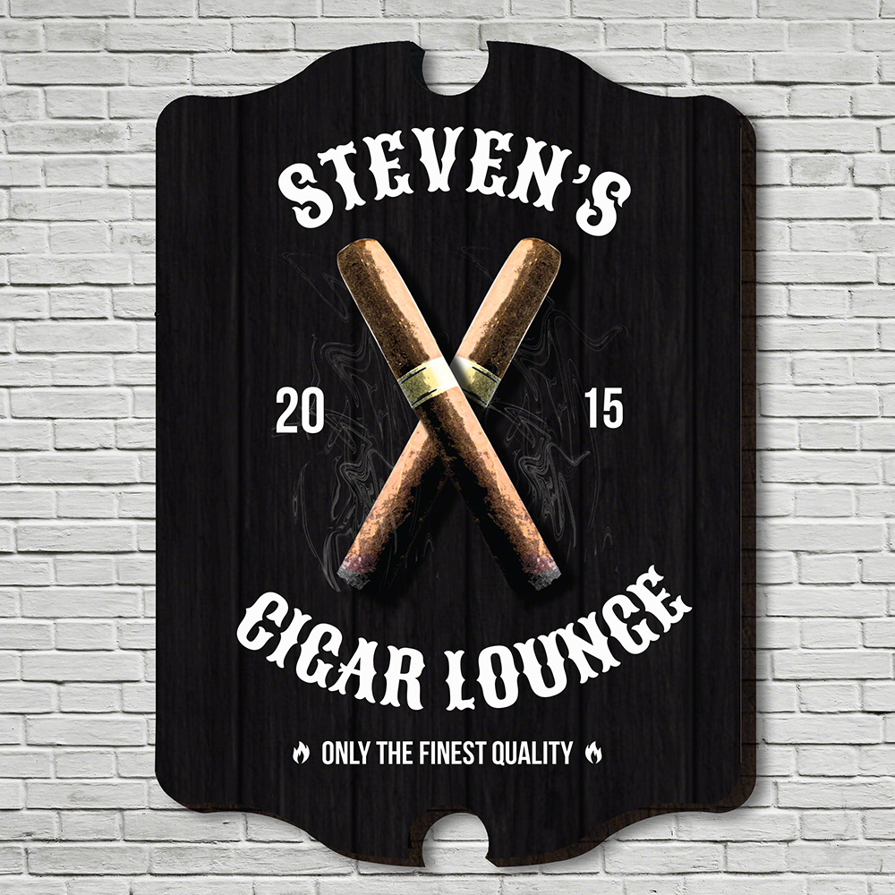 Finest-Quality-Cigar-Personalized-Wall-Sign