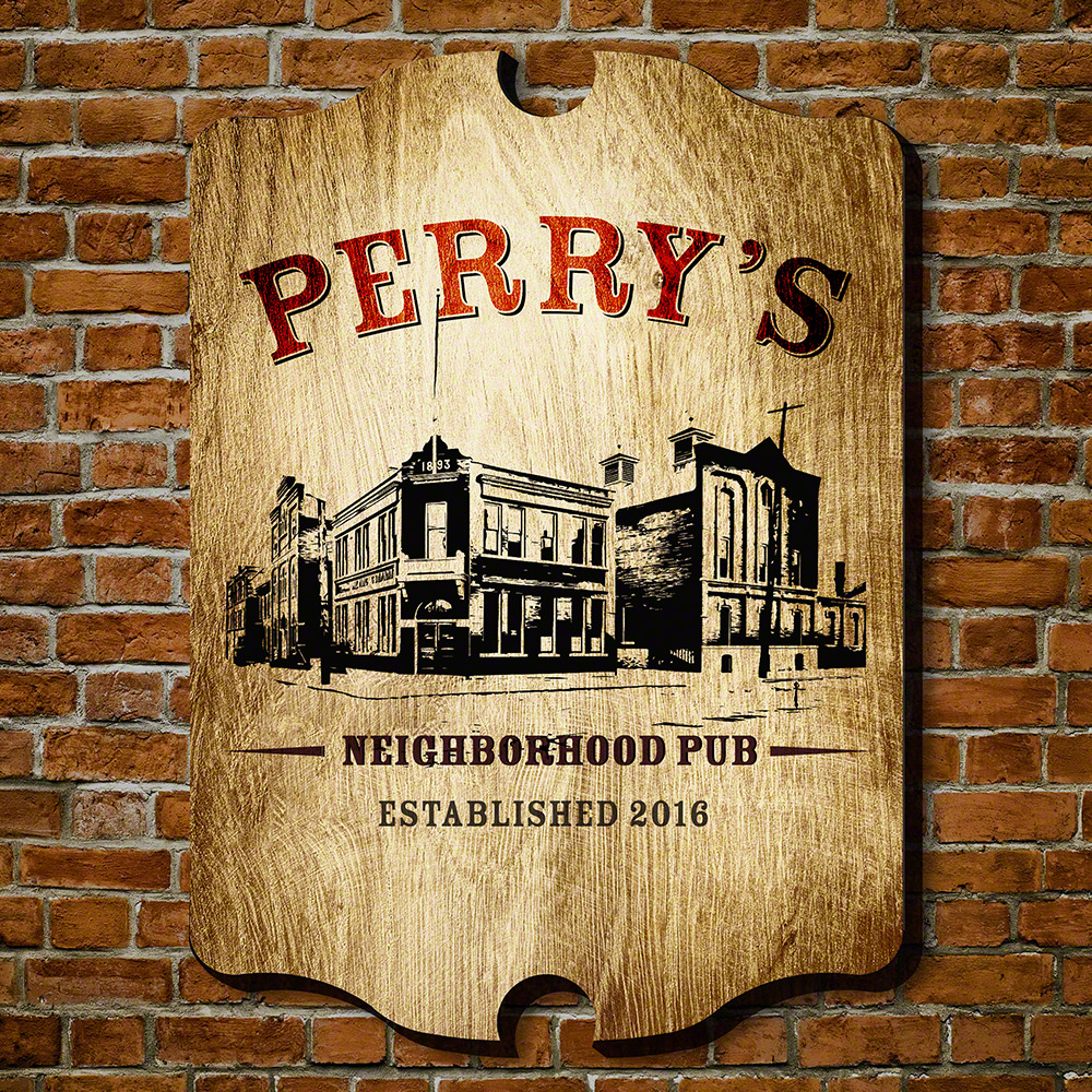 Neighborhood Pub Personalized Wall Sign