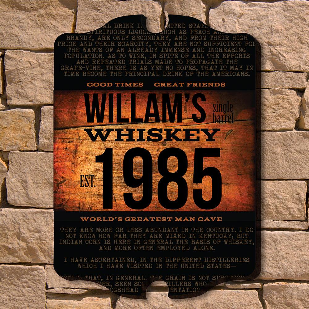 Single-Barrel-Whiskey-Personalized-Sign