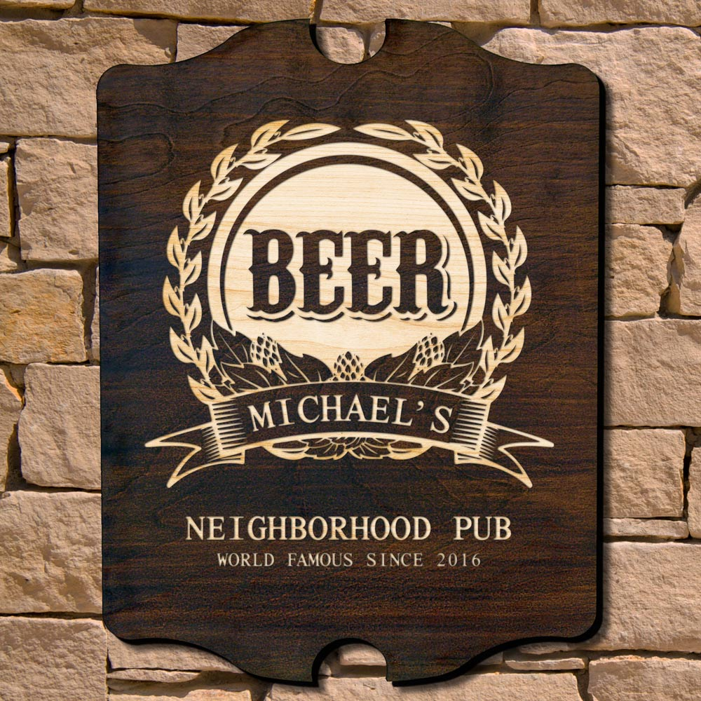 Mark of Excellence Custom Bar Sign (Signature Series)