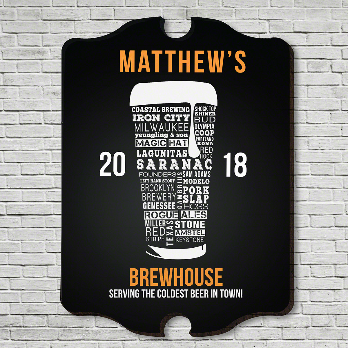 Modern Craft Beer Custom Bar Sign