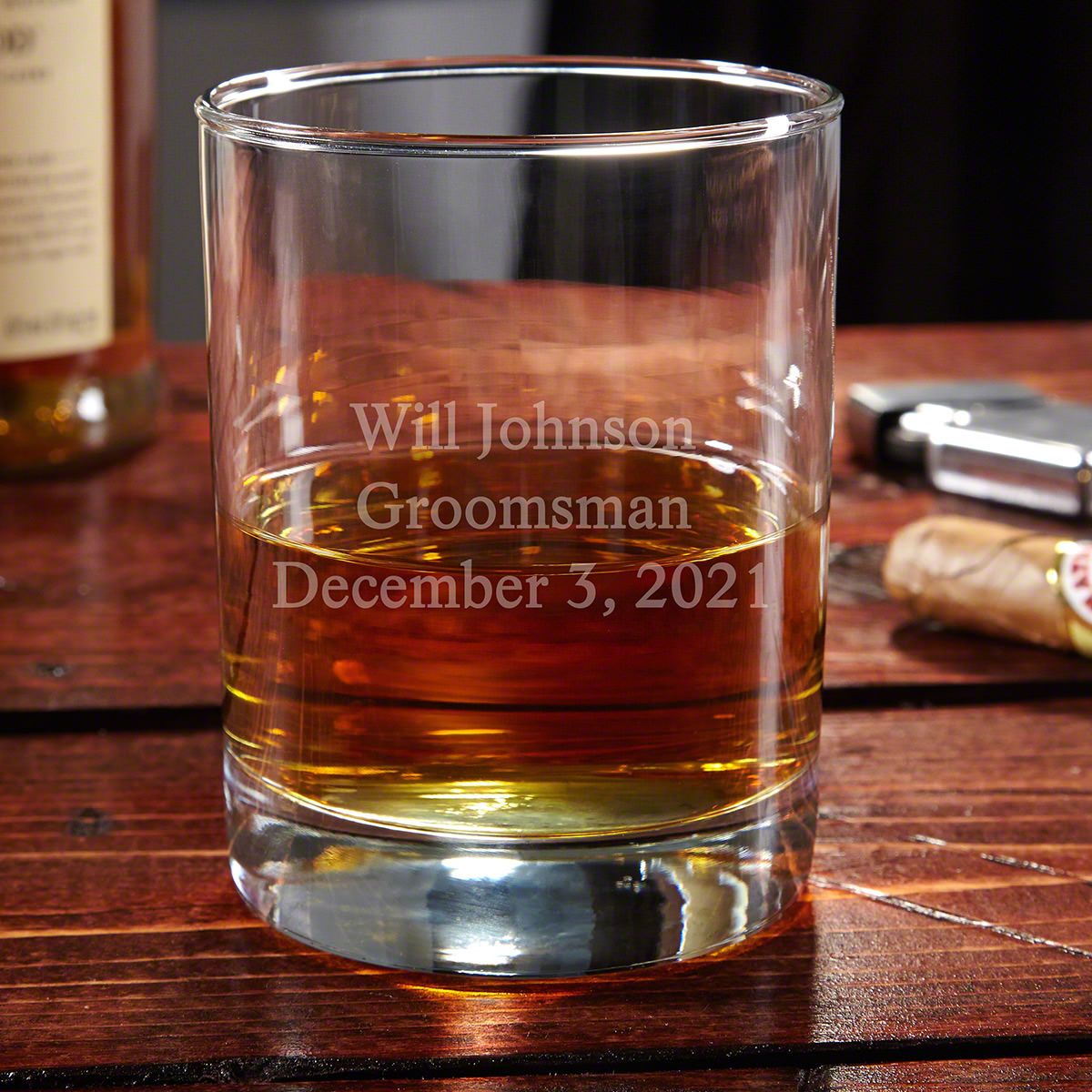 Eastham Personalized Whiskey Glass, 3 Lines