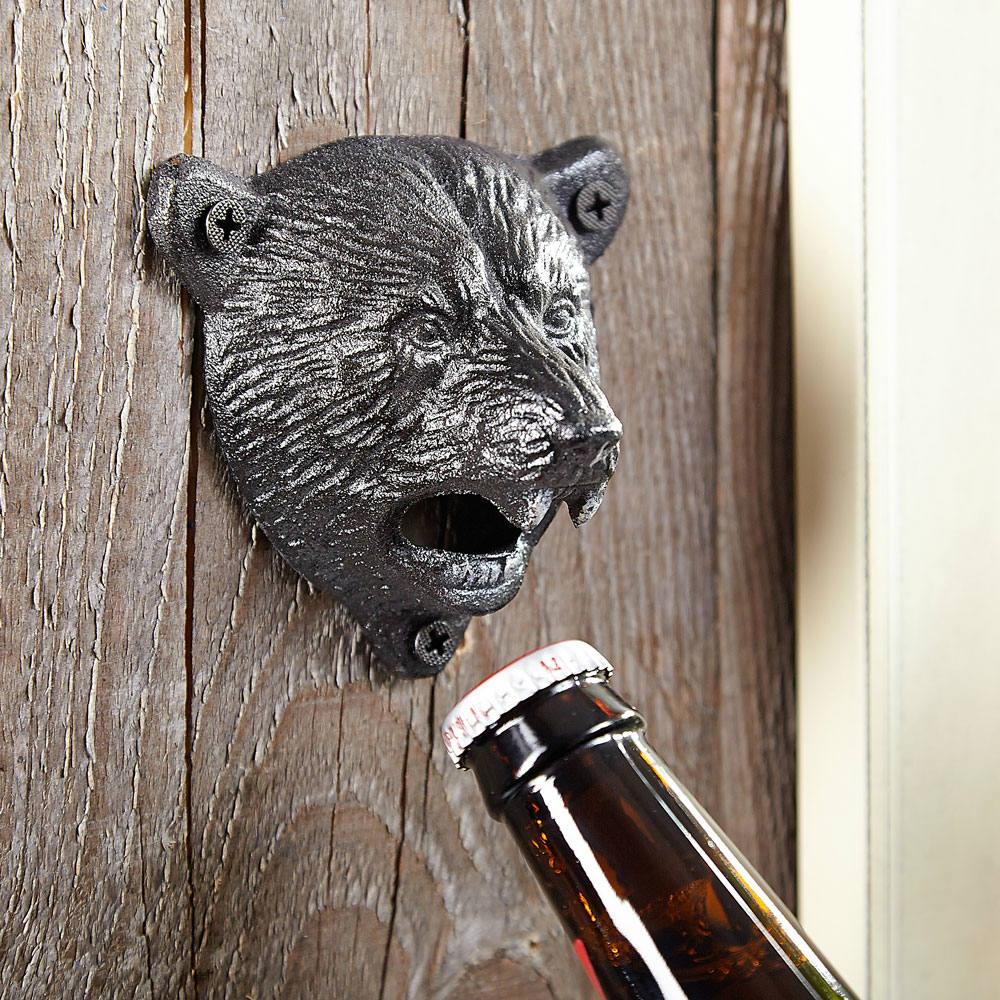 Black Bear Wall Mounted Bottle Opener
