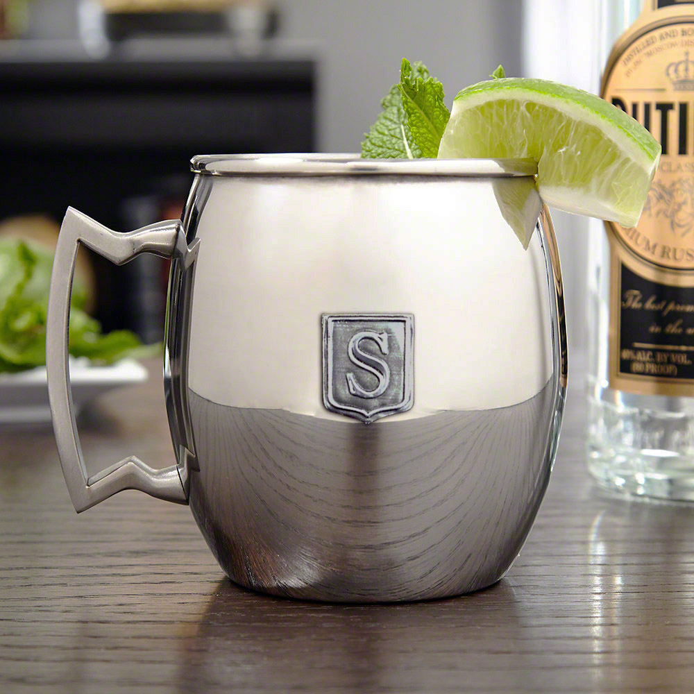 Custom Crest Stainless Steel Moscow Mule Mug, 16 oz