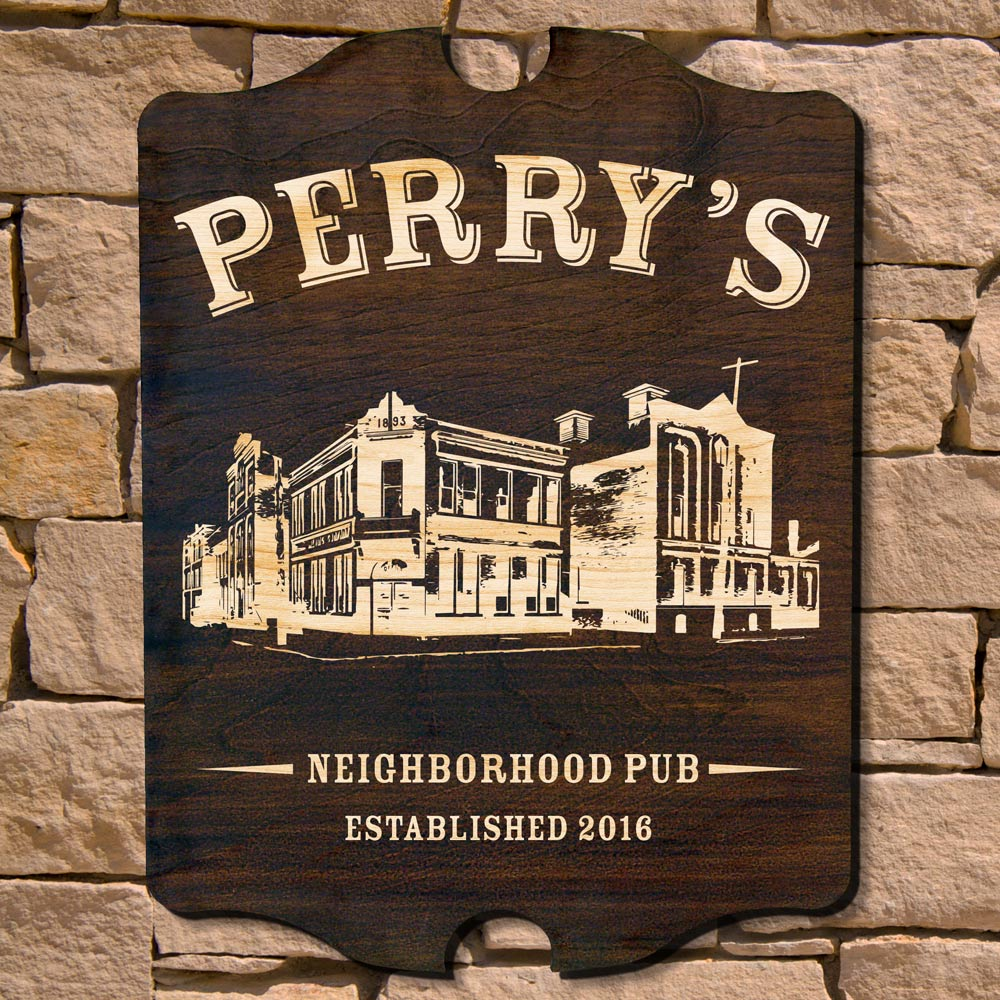 Neighborhood Pub Personalized Bar Sign (Signature Series)