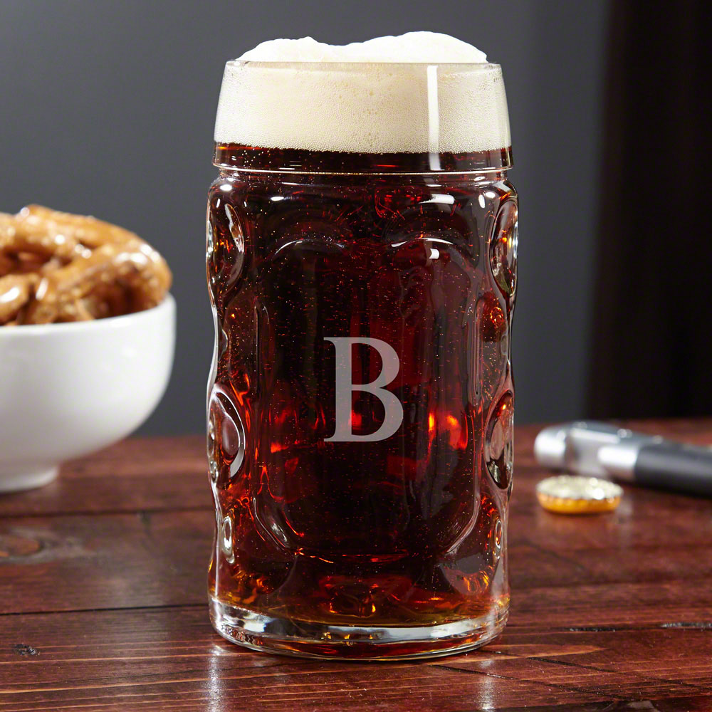 True beer lovers aspire to drinking in the sights, sounds, and beer of Oktoberfest in Germany. Bring some of that lively festival spirit to your home glassware with our custom Oktoberfest large beer mug! Holding a stout 16.75 ounces, this beer mug is made #mug