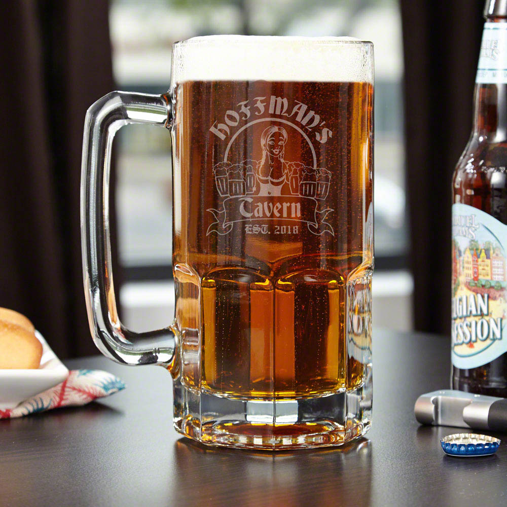Bombshell Barmaid Personalized Colossal Beer Mug