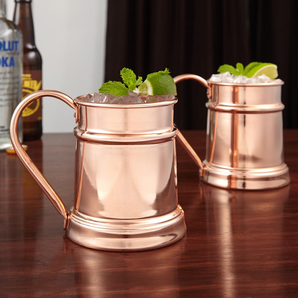Reinfield Copper Beer Steins, Set of 2 (Engravable)