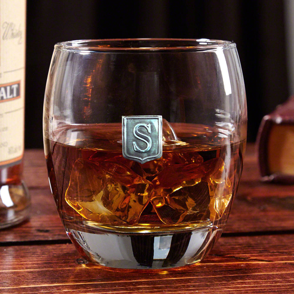 Midtown Regal Crested Whiskey Glass