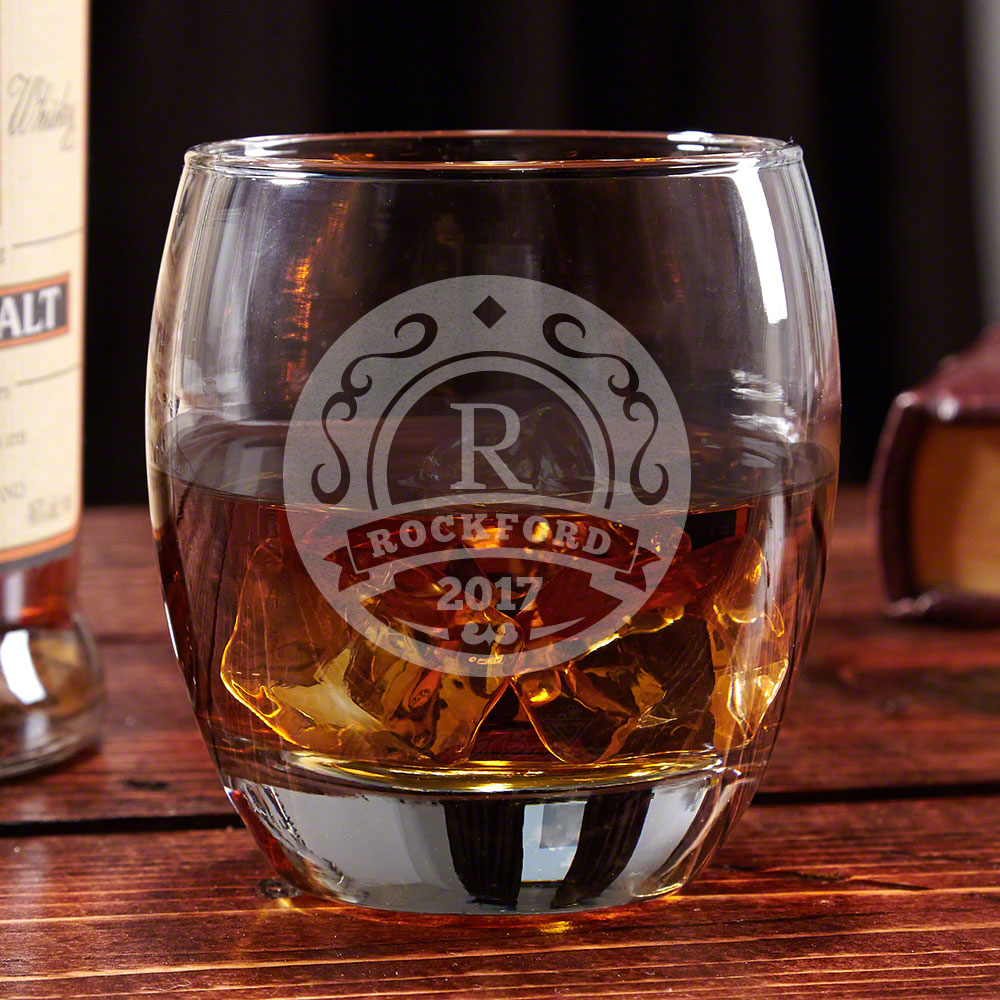 Elliston Engraved Whisky Glass