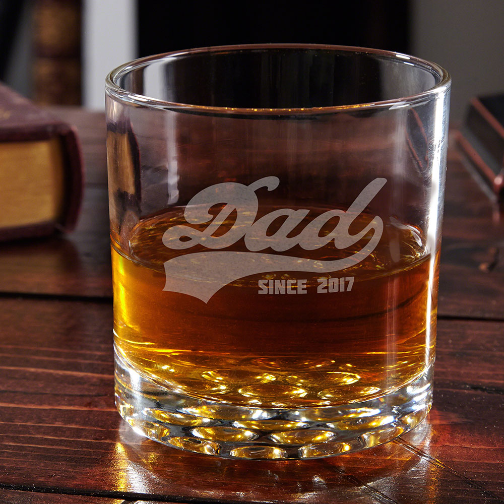 Sports Dad Cool Personalized Whiskey Glass Gift