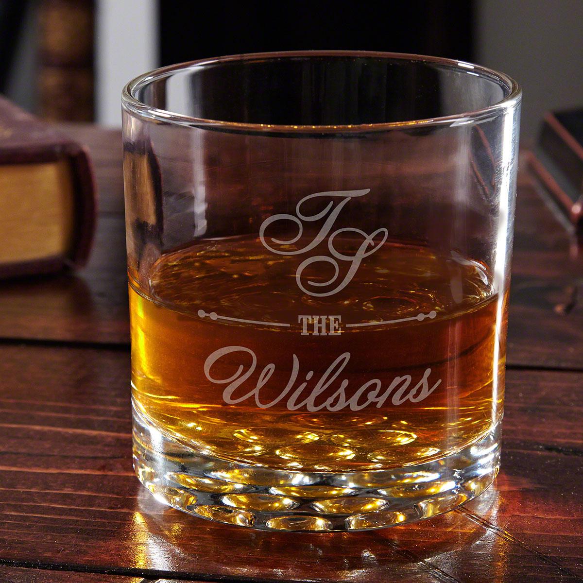 Sheridan Engraved Whiskey Glass