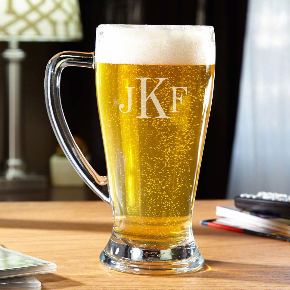 For beer with flavor that truly stands tall, you need a mug that measures up. Our Bavaria monogrammed beer mug is the perfect way to enjoy ice cold beer in a way that will look as impressive as it tastes. This custom beer stein is made with sturdy, premiu #mug