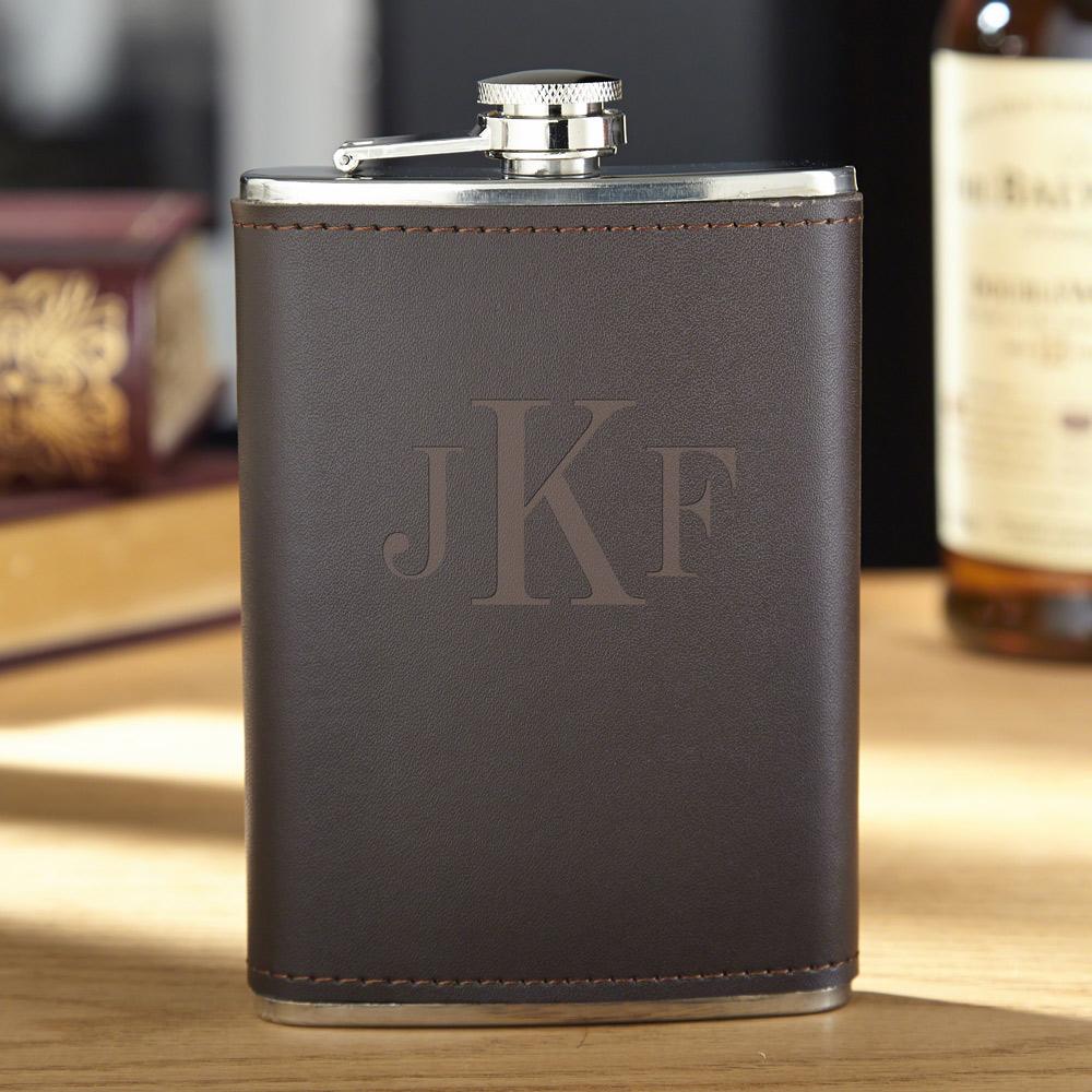 Classic Monogram Fitzgerald Personalized Flask
