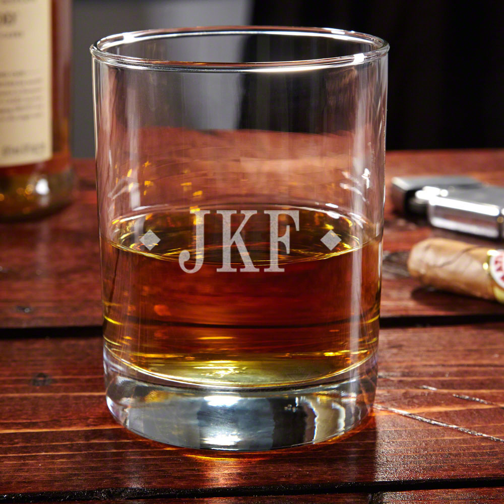Eastham Diamond Monogram Whiskey Glass