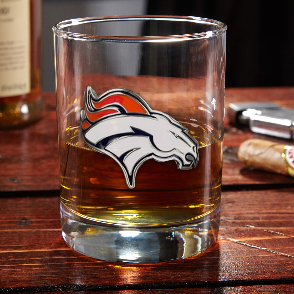 Denver Broncos Whiskey Glass (Engravable)