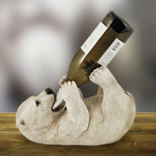 Curious Arctic Cub Wine Holder