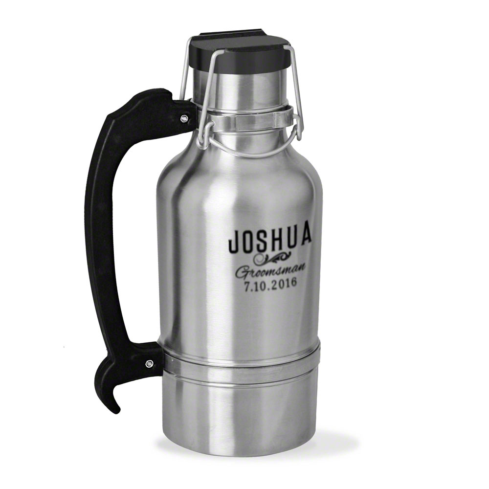Classic Groomsman Gift Personalized Drink Tank Growler