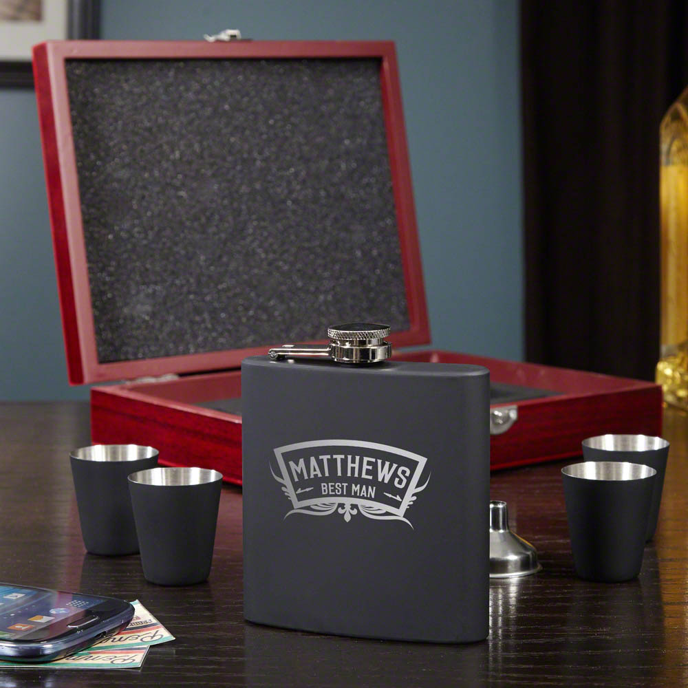 Wedding-Party-Engraved-Flask-Gift-Set