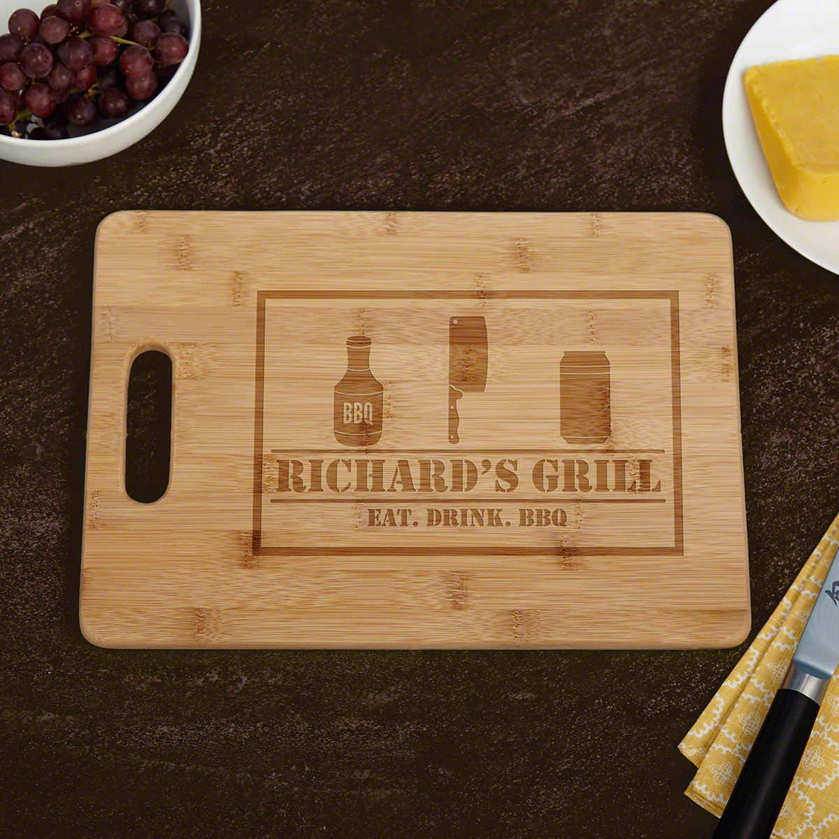 BBQ & Beer Personalized Cutting Board