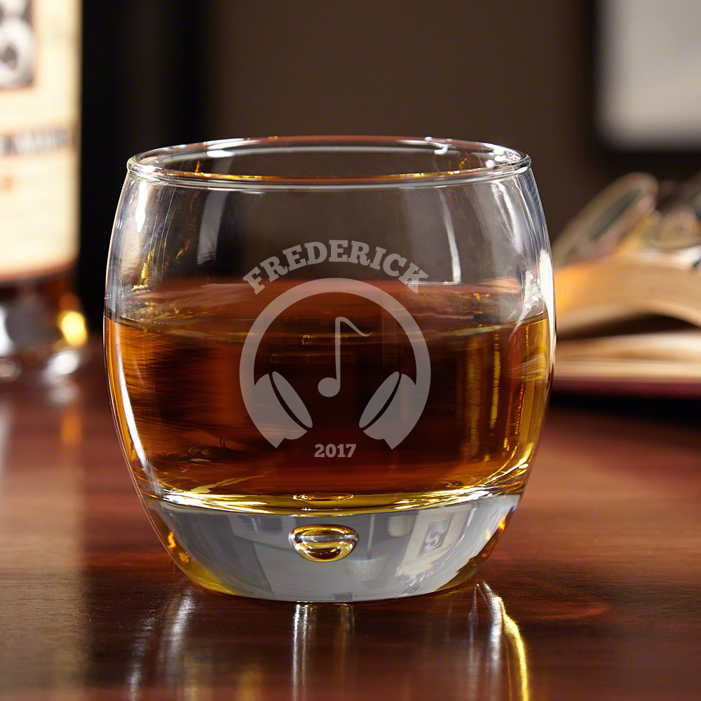 Life in Stereo Personalized Whiskey Glass