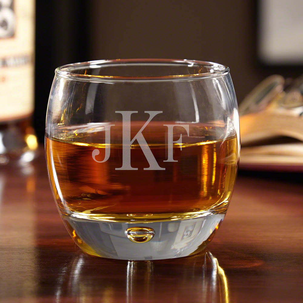 Uptown Classic Monogram Whiskey Glass