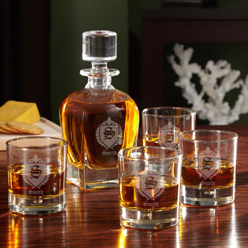 Oxford Monogram Custom Decanter Set