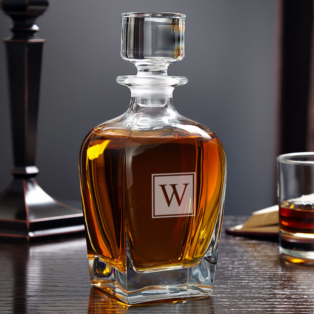 Draper-Block-Monogram-Whiskey-Decanter
