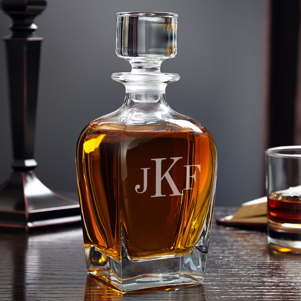 Draper-Classic-Monogram-Whiskey-Decanter