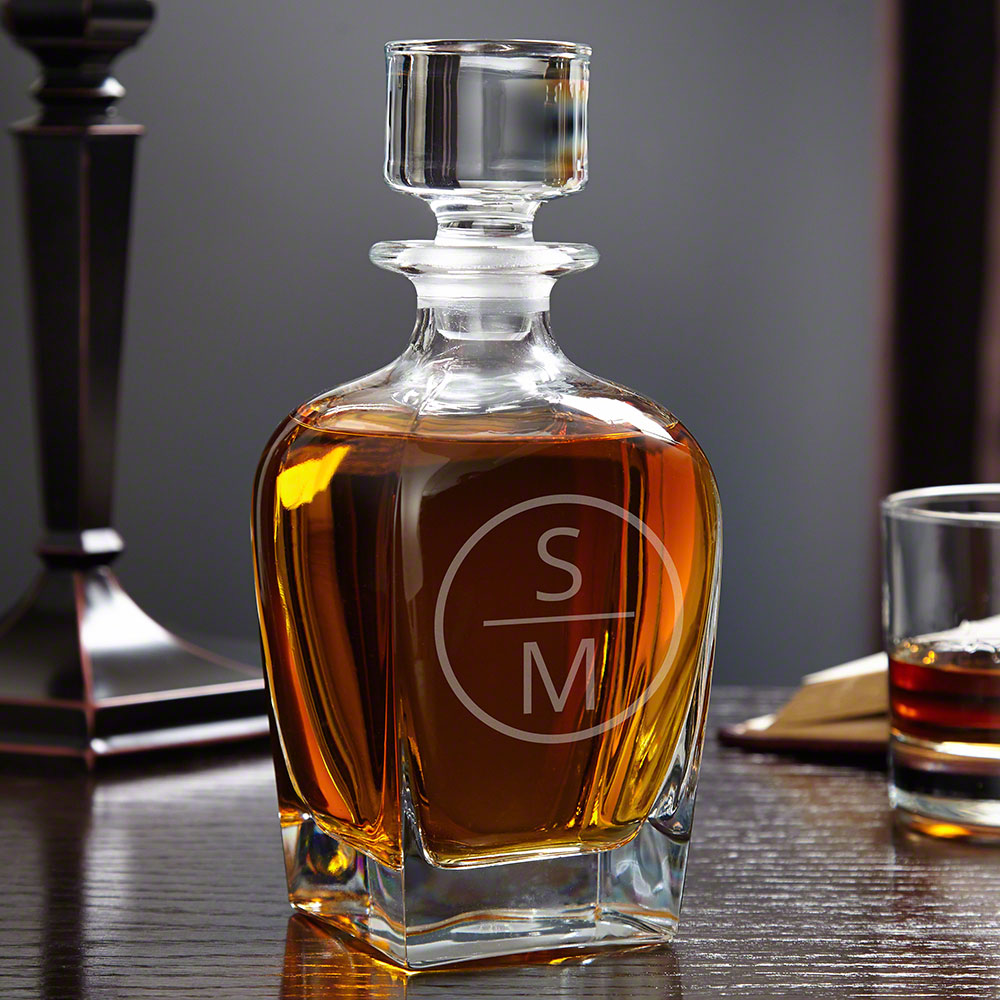 Emerson Personalized Draper Glass Decanter