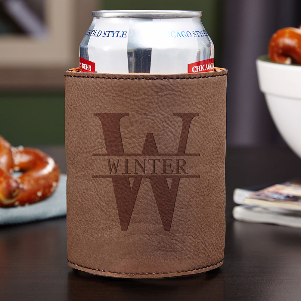 Oakmont Personalized Beer Koozie Chestnut