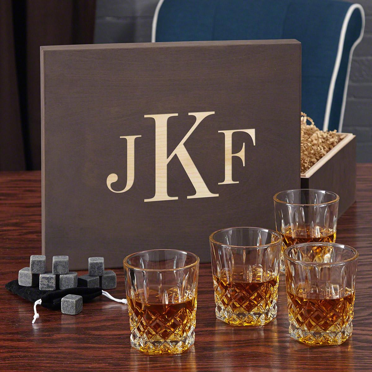 St. Lorenz Whiskey Lovers Gift Set with Monogram Box