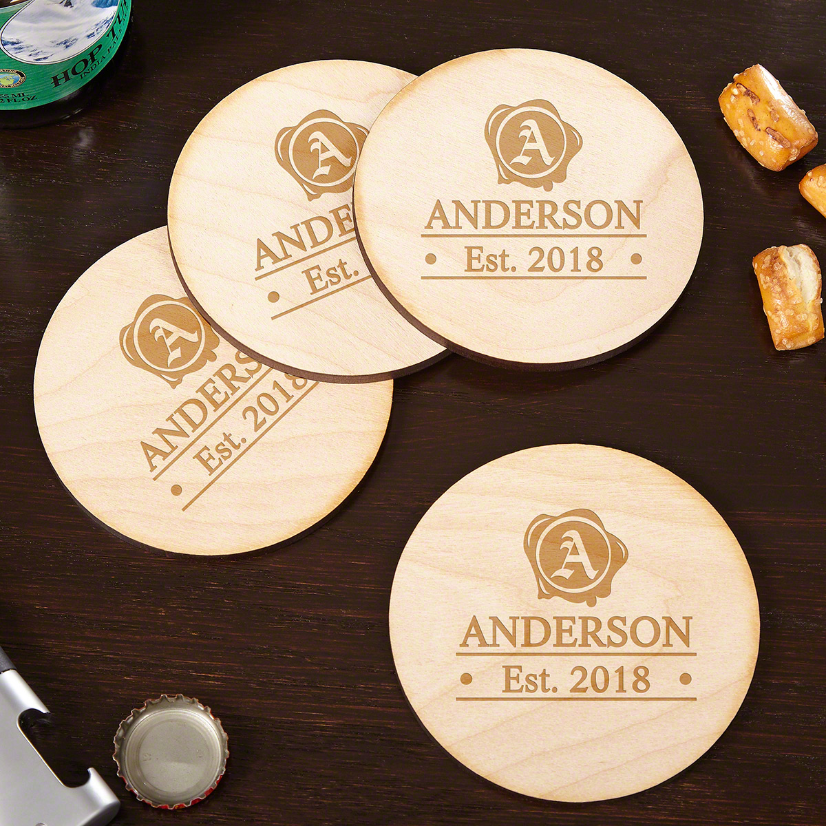 Wax-Seal-Handcrafted-Drink-Coasters-Set-of-4