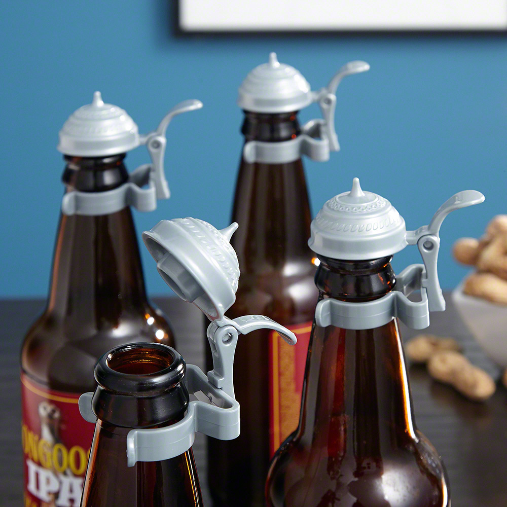 Oktoberfest Beer Bottle Toppers, Set of 4