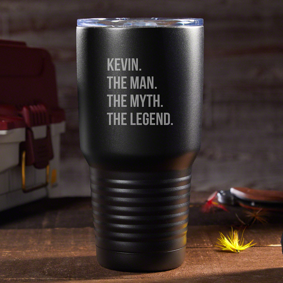 The Man The Myth The Legend Personalized Travel Mug Black