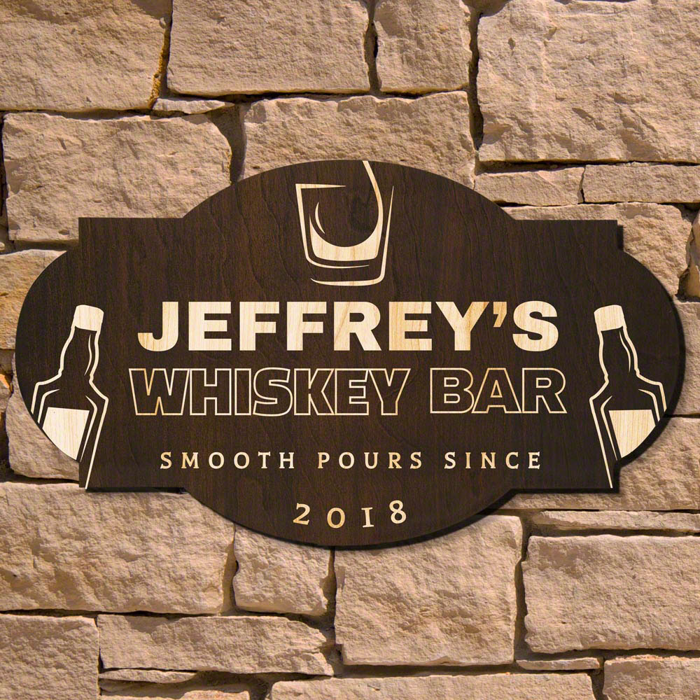Smooth Pour Personalized Bar Sign (Signature Series)
