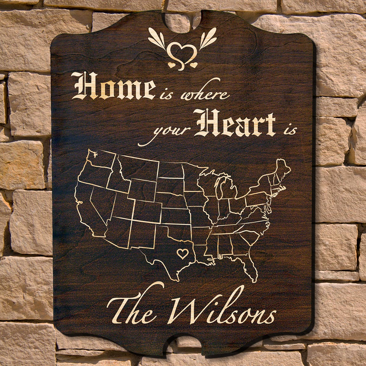 Home is Where Your Heart is Personalized Sign (Signature Series)