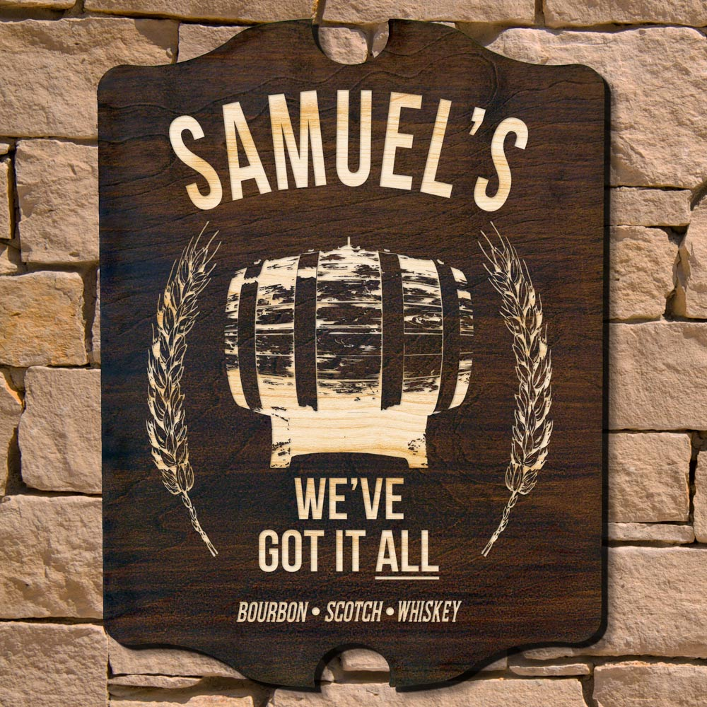 All the Whiskey Personalized Bar Sign (Signature Series)