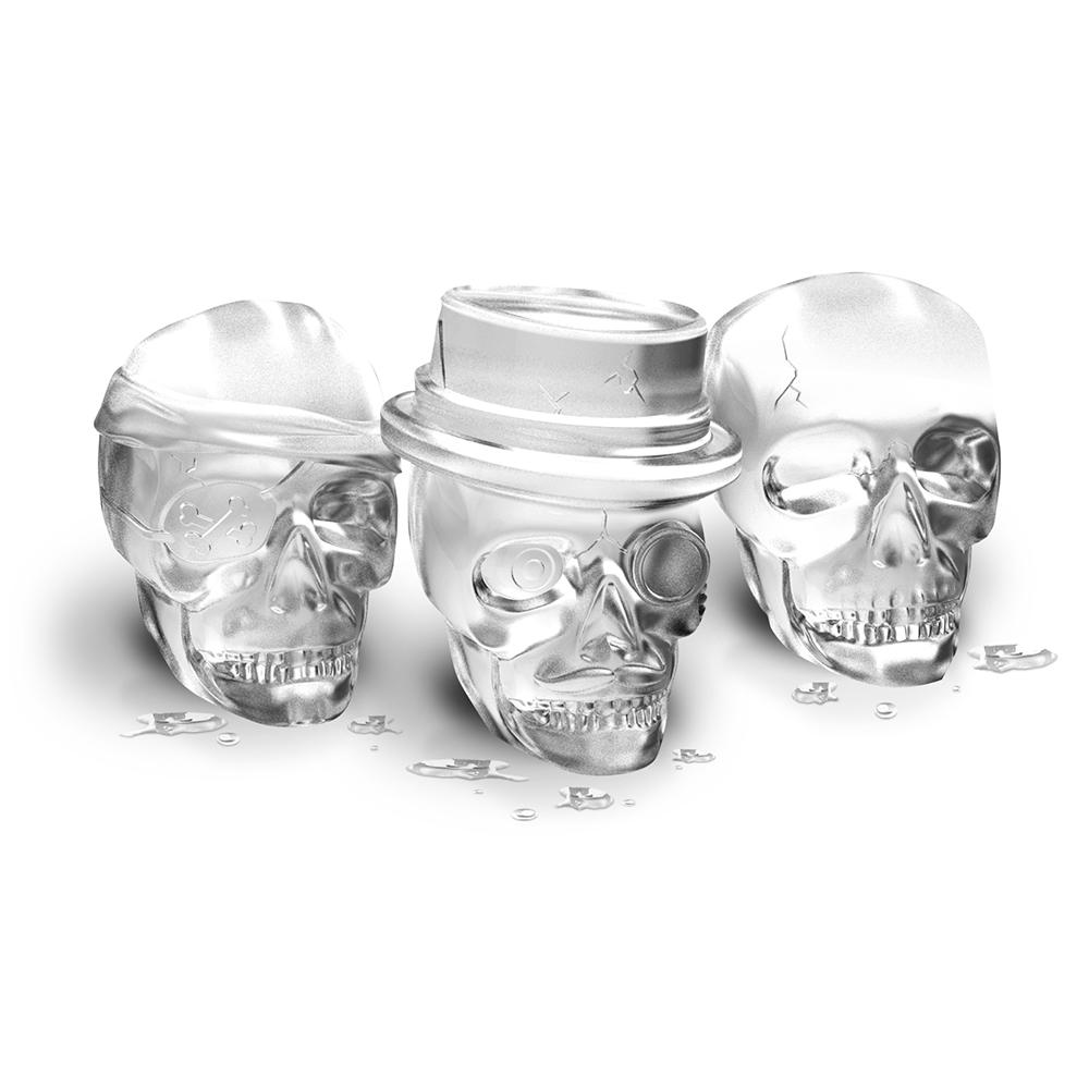Bone Chilling Skull Ice Molds, Set of 3