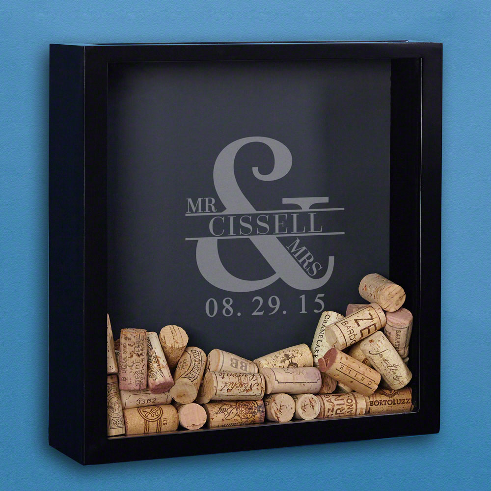 Love & Marriage Custom Wine Cork Shadow Box