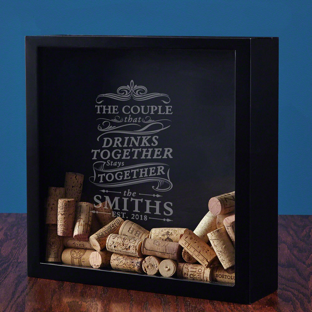 Drink Together Stay Together Custom Shadow Box