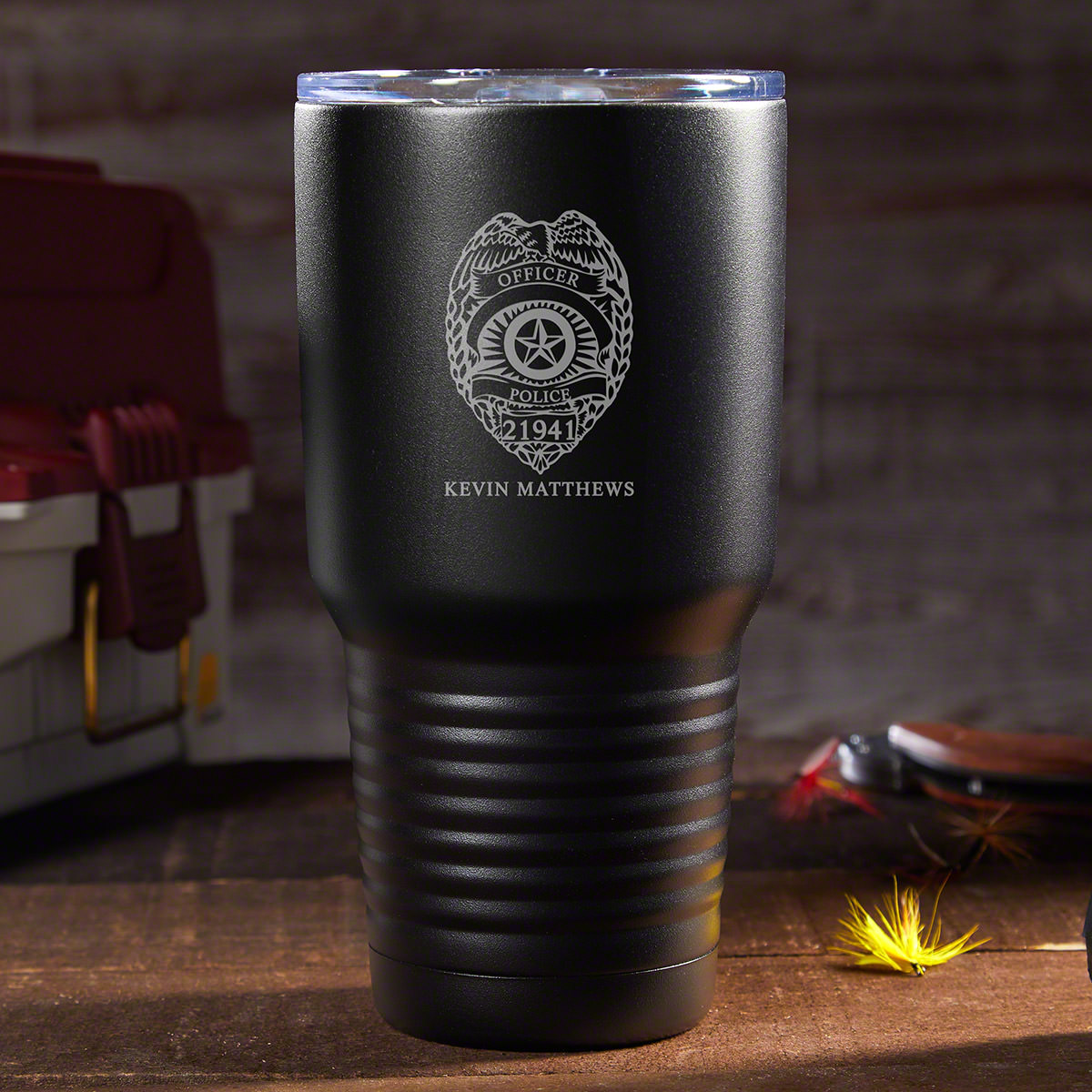 Alert: Code Coffee! For the law enforcement officer on the go, there is no better suspect of convenience than this awesome custom insulated travel mug. Crafted from food grade 18/8 stainless steel that is double walled and vacuum insulated your beverages #mug